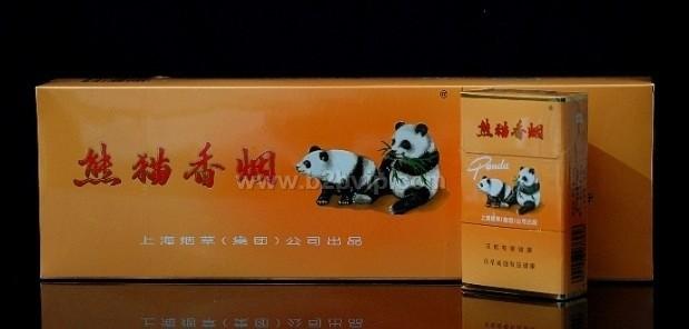 小熊猫礼盒 条 480.00 铁盒大熊猫 绿   熊猫香烟硬盒二十根高清图片