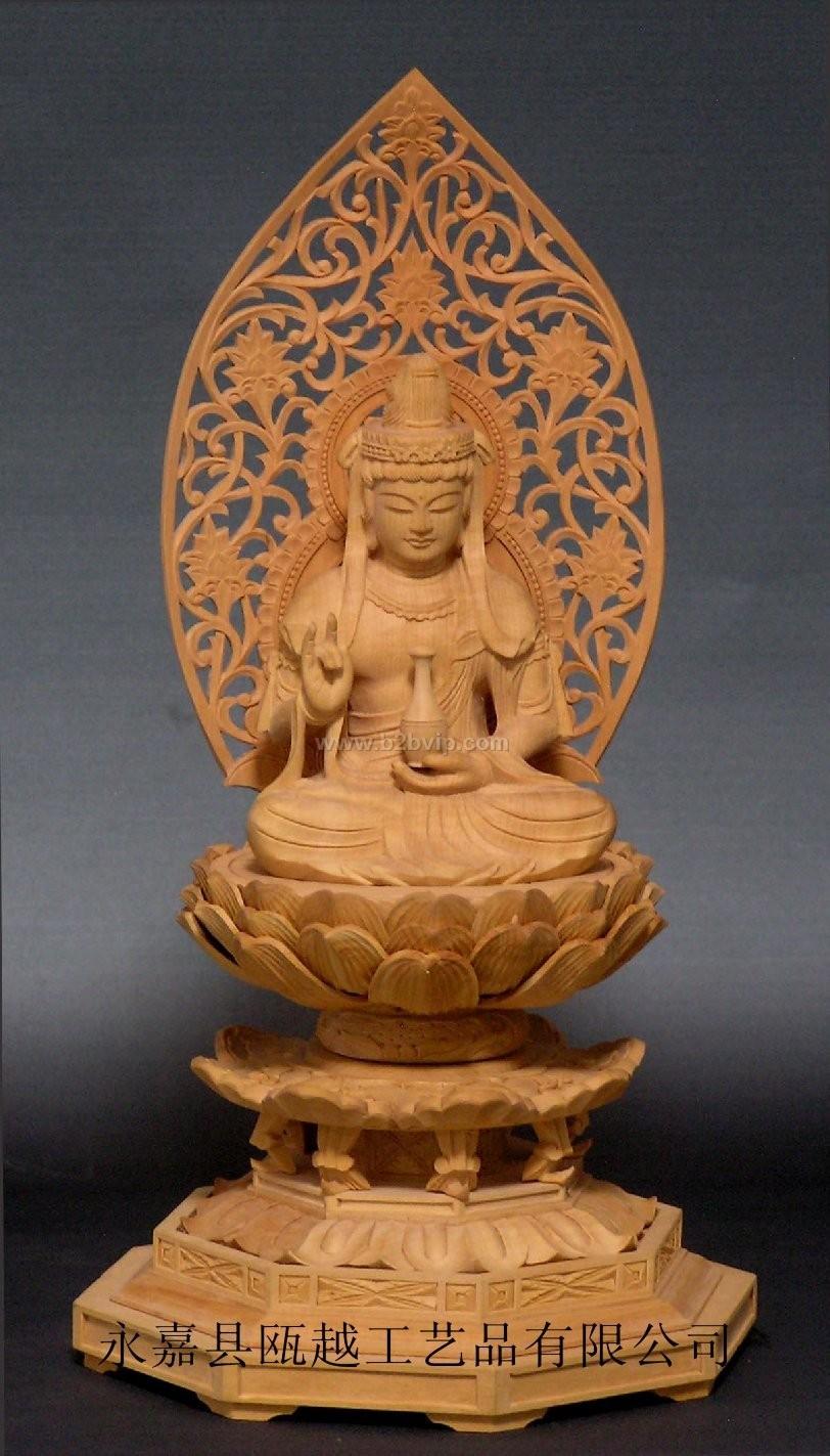 供应木雕佛像杨柳观音