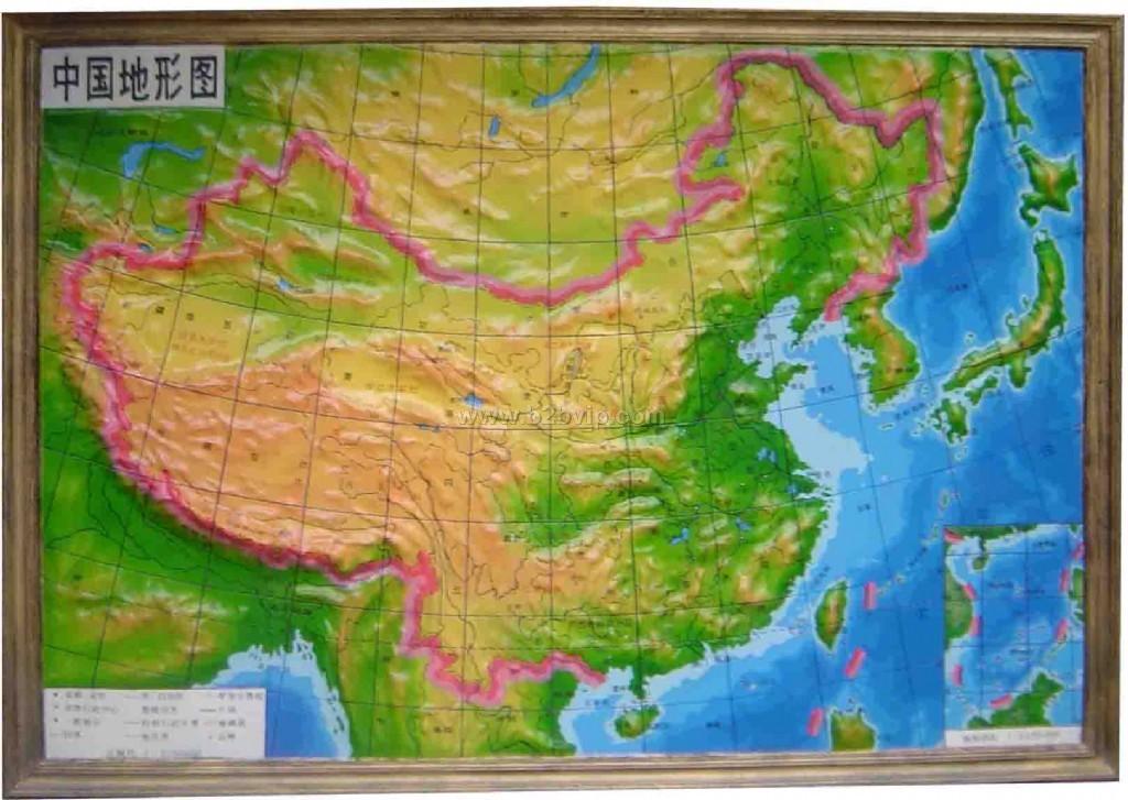 图-河南山脉地形图全图-中国地图山脉分布图-中国山川河流高清地图