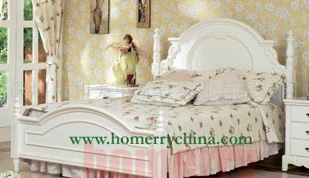 欧式手绘雕花床_其他卧室家具