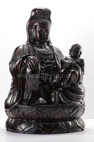 观音菩萨木雕佛像2010-03-23