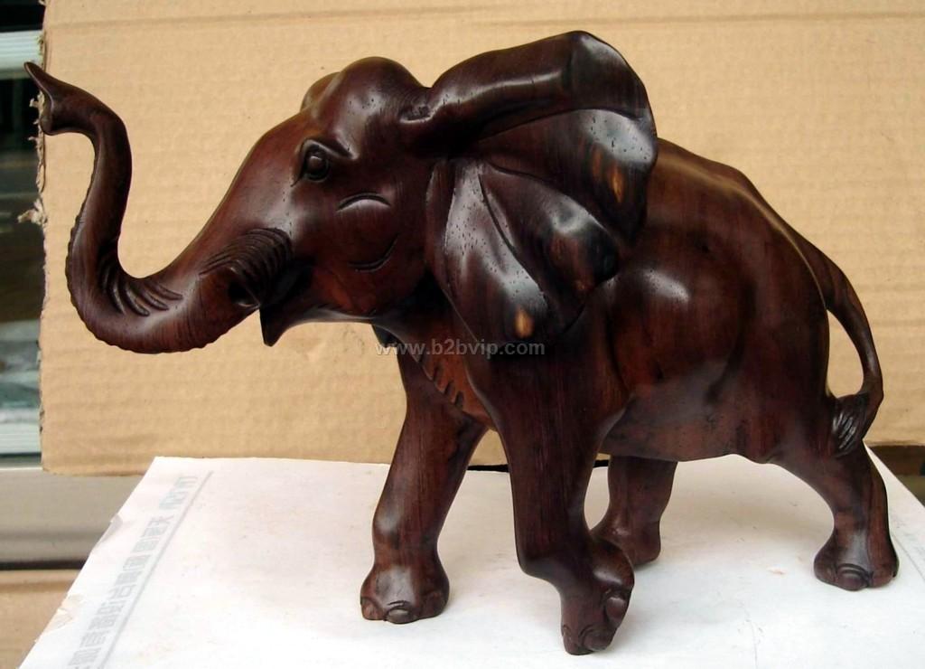 木雕大象_雕塑,雕刻工艺品