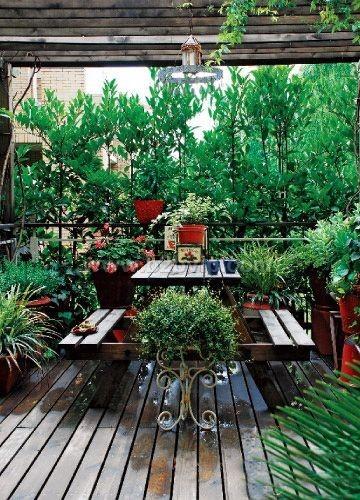 青岛别墅庭院,屋顶花园
