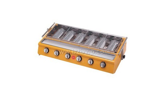 不锈钢六头燃气环保   烧烤炉   光波红外线   烧烤炉   高清图片